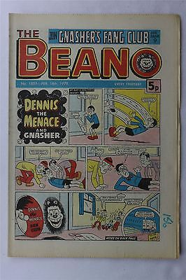 The Beano #1857 February 18th 1978 FN Vintage Comic Bronze Age Dennis The Menace