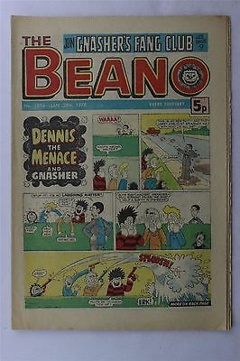 The Beano #1854 January 28th 1978 FN Vintage Comic Bronze Age Dennis The Menace