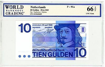 Netherlands ... P-91a ... 10 Gulden ... 1968 ... *Gem UNC*