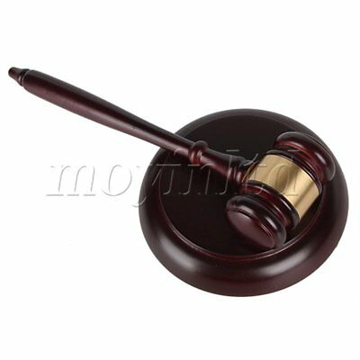 Wood Hardwood Gavel Sound Block for Lawyer Judge Gift Auction Meeting