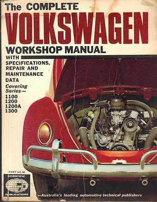 Vw Beetle 1100,1200,1200A,1300,1500,inc.oval,type 1,workshop Manual 1954-1968