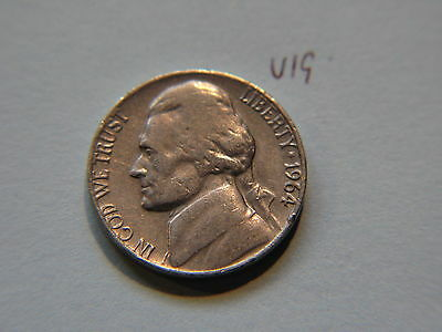 1964 Nickel 5c Five Cent coin, Jefferson 5 cents USA