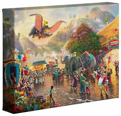 Thomas Kinkade Studios Disney Dumbo 8 x 10 Gallery Wrapped Canvas
