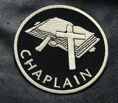 Chaplain Christian God Embroidered Christian Iron On Biker Patch