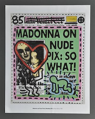 Andy Warhol Madonna & Sean Penn's Wedding Gift 1985 Offset Lithograph 34x43cm
