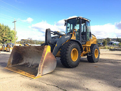 2011 Deere 544K Wheel Loader 4500Hrs Deere Coupler Cab Heat/ac 3 Yd Bucket