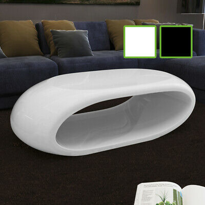 #bNEW Coffee Table Side Table Fiber Glass Hollow White / Black High-quality