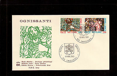 Vatican 1980 First Day Cover, Feast Of All Saints #679/80