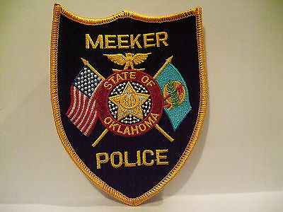 police patch  MEEKER POLICE OKLAHOMA