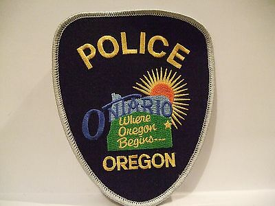 police patch    ONTARIO POLICE OREGON
