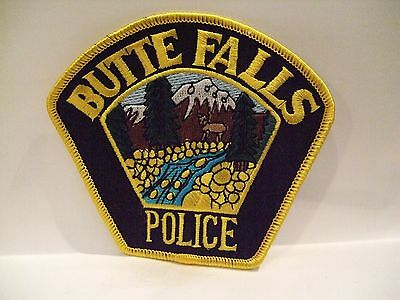 police patch   BUTTE FALLS  POLICE OREGON