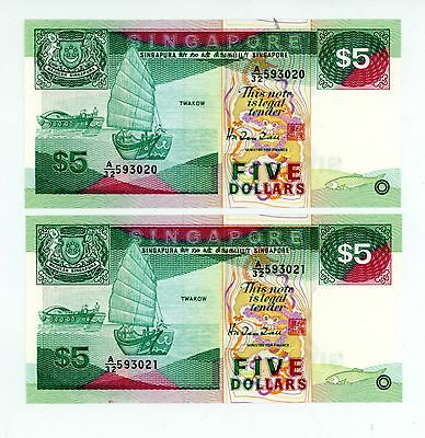 Singapore Asia Singapore 1997 5 Dollars P 35 Circulated