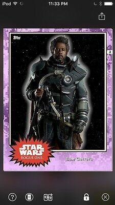 Topps Star Wars Digital Card Trader Preview Saw Gerrera Base 4 Variant
