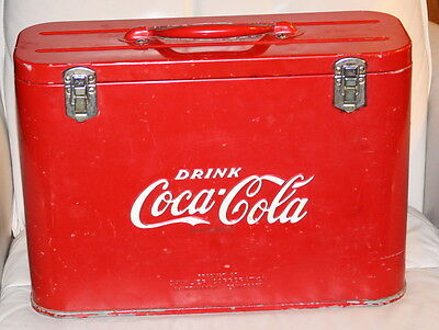 Neat Coca-Cola Cavalier Junior Airline Cooler with Embossed Letters