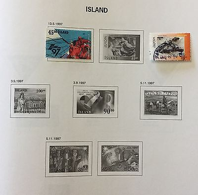 Island Iceland 1997 Lot Of 2 Used For Description Look At The Picture Rare