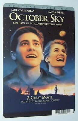 OCTOBER SKY movie backer card (b) JAKE GYLLENHAAL - this is NOT a movie
