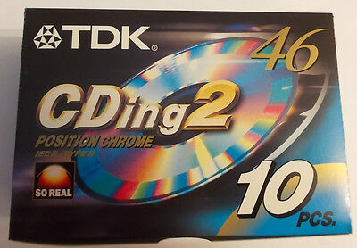 10 Audiocassette Tdk Cding 2 46 Nuove