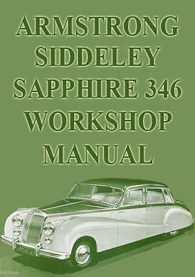 Armstrong Siddeley Sapphire 346 Workshop Manual