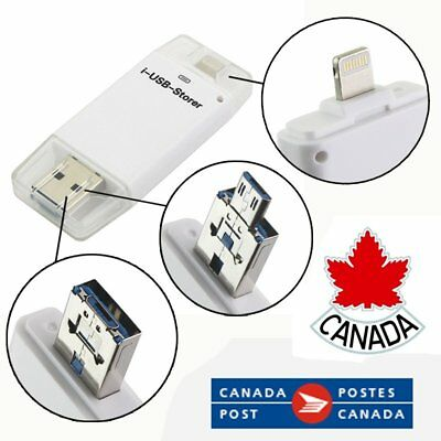 64GB 32GB i-Flash Drive USB Disk 8 pin Memory Stick For iPhone iPad Android CA