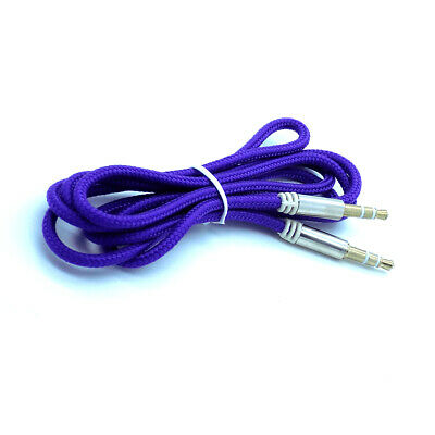 2 X Strong Braided 3.5mm Jack to Jack Stereo Plug Aux Audio Auxiliary Cable Lead