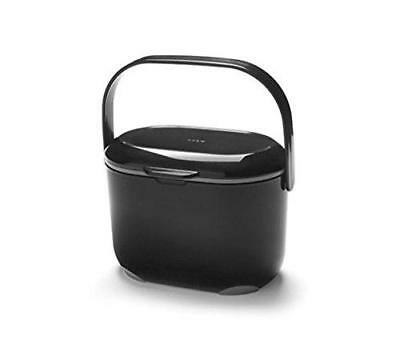 Addis 2.5L Black & Metallic Food Compost Caddy W/ Removable Inner Bucket 515630