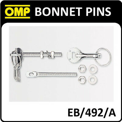 Eb/492/a Omp Racing Quick Release Bonnet Pins Silver Aluminium - Pack Of 2