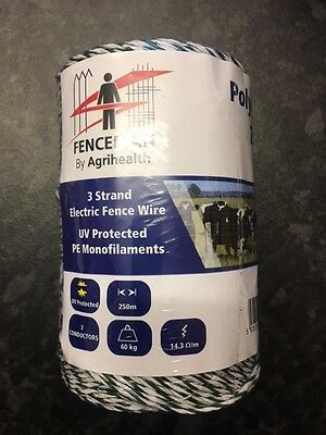FENCEMAN ELECTRIC FENCE POLYWIRE 3 STRAND - HIGH QUALITY - 250m OR 500m