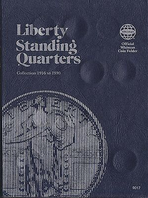 Whitman 9017 Liberty Standing Quarters 1916 - 1930 Coin Folder Albums books