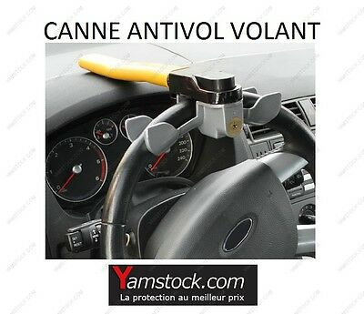 barre canne antivol bloque volant rotary lock pour voiture. Black Bedroom Furniture Sets. Home Design Ideas