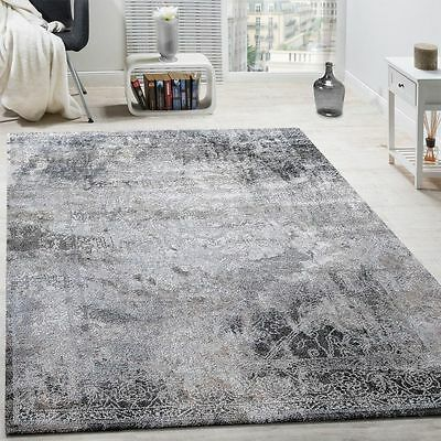 New Vintage Rug Shabby Chic Design Grey Carpet Living Area Rugs Small Large Mats
