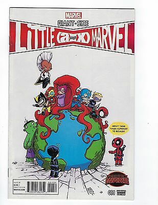 GIANT SIZE A VS X LITTLE MARVEL #1 1:20 Skottie Young Variant Cover NM