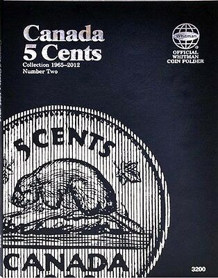 New 3200 Whitman Canadian Coin Folder CANADA 5 Cents 1965-2012 Number 2, Album