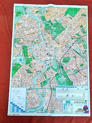 Vintage 80s Savelli Stores Vatican City Rome Street Map in English & Spanish