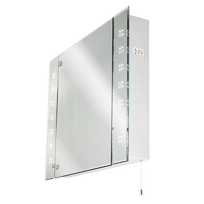 Illuminated LED Bathroom Mirror Cabinet IP44 + Shaver Socket CLEARANCE 1 ONLY