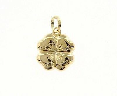 18K WHITE GOLD ROUNDED FLOWER DAISY PENDANT CHARM 17 MM SMOOTH MADE IN ITALY