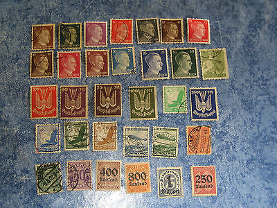 Lot Timbres Allemagne  Reich