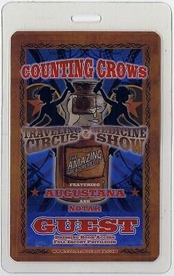 Counting Crows authentic 2009-2010 concert tour Laminated Backstage Pass