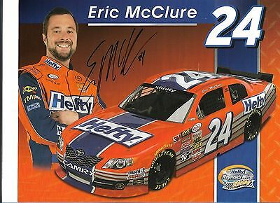 Eric Mcclure #24 Hefty Camry  Autographed Signed Postcard