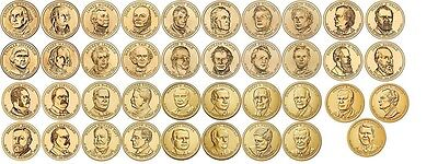 2007 - 2016 Presidential Dollar Set 39 Coins