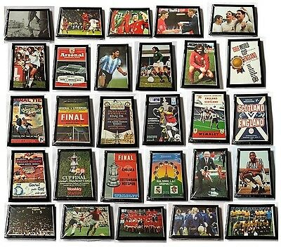 NEW Collectible Framed Football Picture Post Cards Greats: Moore Pele Best etc!
