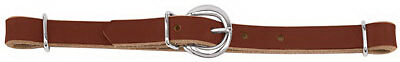 Horizons Collection Horse Curb Strap, Single Flat Link, Leather, 5/8-In.
