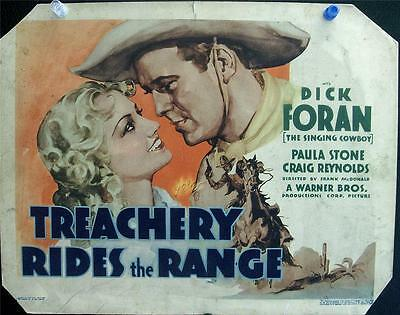 Universal Horror Star Dick Foran Lot Of Two Vintage Western Us Lobby Cards