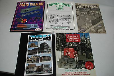 Atlas Model Railroad Parts Catalog Third Edition + Others Lot: Clover House, DPM