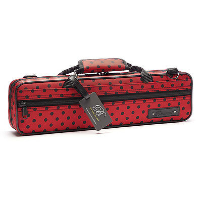 Beaumont Flute Case Ladybird Red Colourful Hard Flute Case Lightweight Student