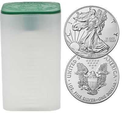 Tube of 20 - 2017 $1 1oz Silver American Eagle BU