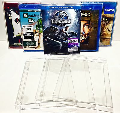 25 Box Protectors For BLU-RAY / HD DVD  Clear Custom Made Cases / Sleeves Bluray