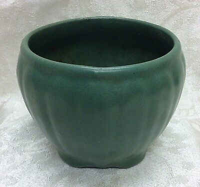 Early Arts & Crafts Matte Green Jardiniere
