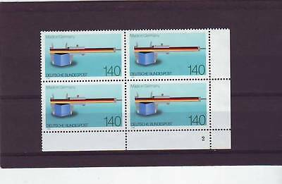 Germany/west - Sg2249 Mnh 1988 Vernier Caliper Rule - Block Of 4