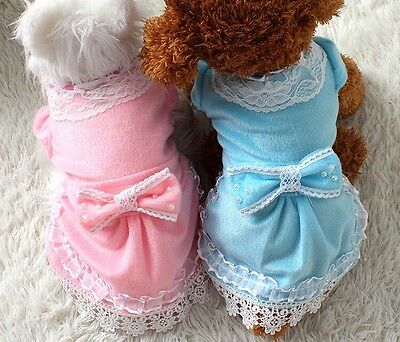 Dog Dress Jumper Clothes Top Teacup Xs Small Toy Cat Fleece Chihuahua Puppy 24Cm