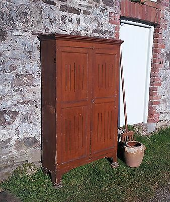 Early Victorian painted pine food cupboard/ larder/ cabinet